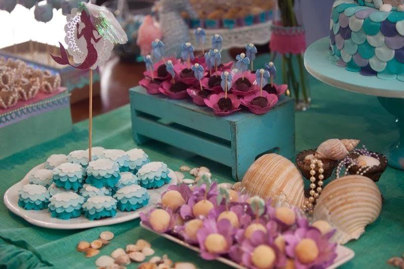 Festa Em Casa O Casamento Da Pequena Sereia Decoração E Festas
