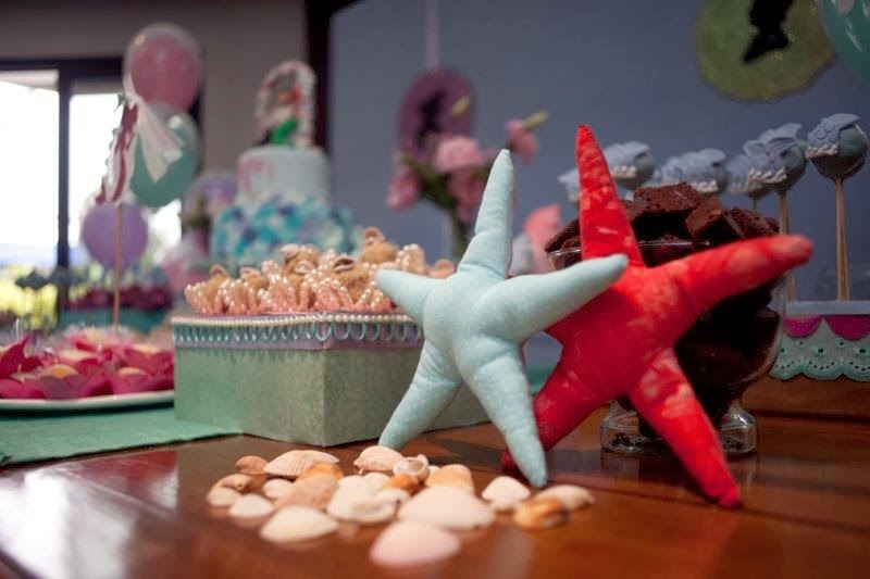 festa em casa o casamento da pequena sereia decora o